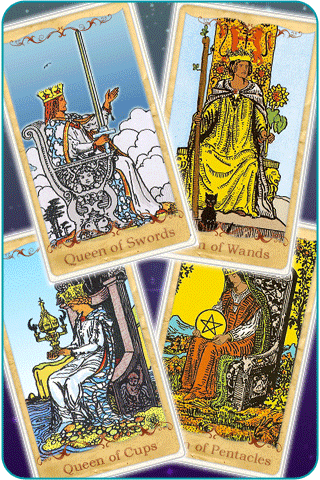 Queen cards tarot